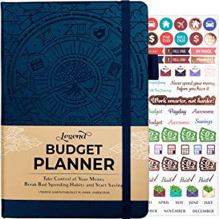 Legend Budget Planner - Deluxe Financial Planner Organizer & Budget Book. Money Planner Account Book & Expense Tracker Notebook Journal for Household Monthly Budgeting & Personal Finance –Mystic Blue