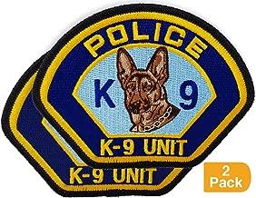 Police K-9 Unit Shoulder Patch – K9 Dog Unit Tactical Badge (2 Pack)