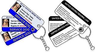 XpressID Service Dog ID Key Tag (Set of 3) | Includes Registration to National Dog Registry