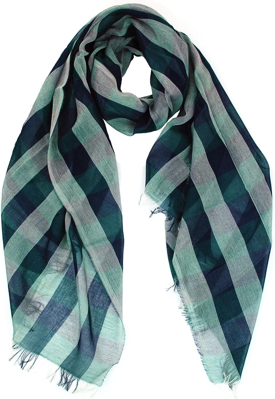 GIULIA BIONDI 100% made in Italy 100% Organic Cotton Scarf Shawl Wrap Head Large Infinity Neck Fashion Lightweight Women Men