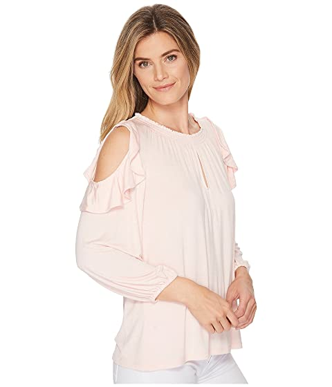 Jersey Blouse Lauren Cold Ralph Shoulder LAUREN Ruffled RHwAPSSnx