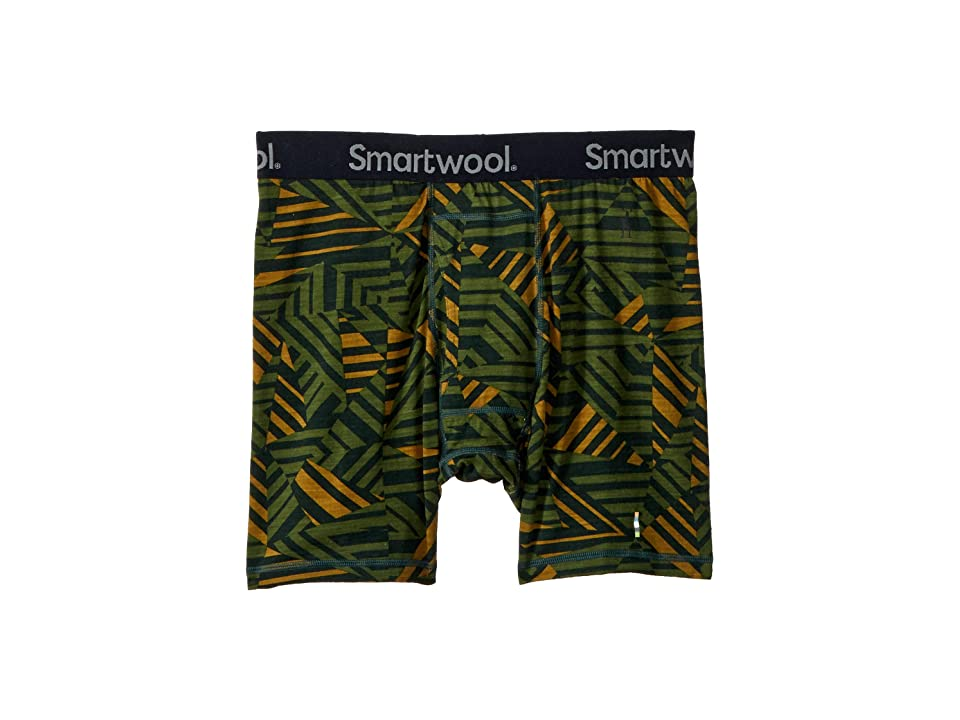 Smartwool Merino 150 Printed Boxer Brief (Chive) Men
