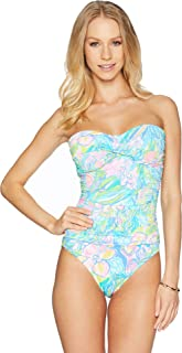 Lilly Pulitzer Flamenco One-Piece Swimsuit Bennet Blue Surf Gypsea 6