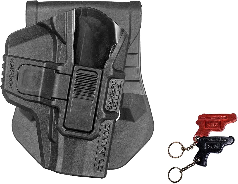 Makarov SR Fab Defense Scorpus Holster For Makarov PM PPM + Leather Keychain