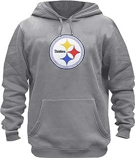 BKD Mens Athletic Steelers Embroidery Cotton Sweatshirt Pullover Hoodie