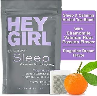 Herbal Tea Sleep Aid w/ Chamomile , Valerian Root & Lemon Balm in Tea Bags - Aids Anxiety & Stress Relief - Thoughtful Gif...