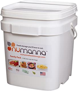 NuManna INT-NMFP 144 Meals, Emergency Survival Food Storage Kit, Separate Rations, in a Bucket, 25 Plus Year Shelf Life, GMO-Free