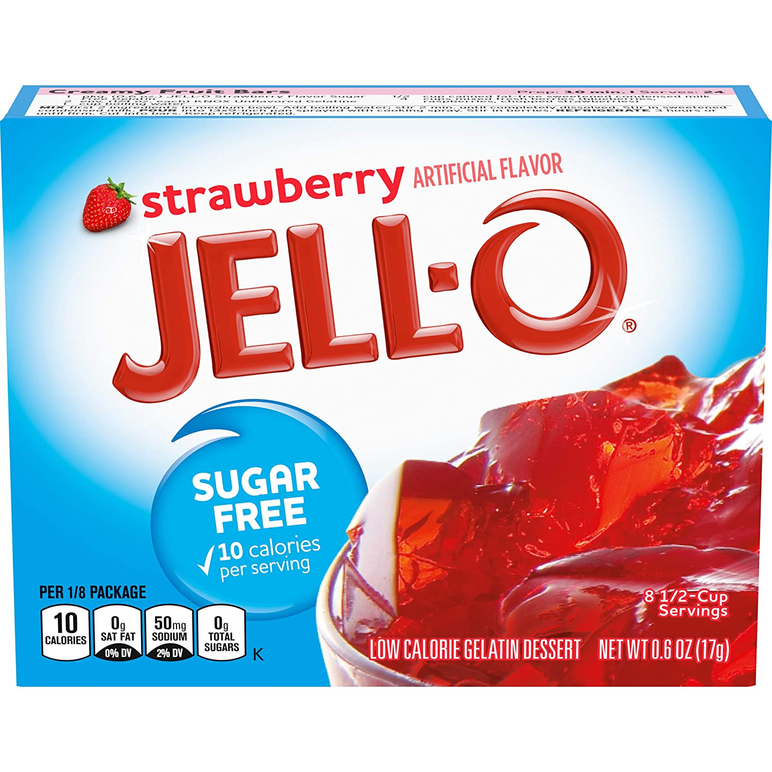 Now on sale Jell-O Minneapolis Mall Strawberry Sugar-Free Gelatin Mix Boxes 0.6 Pack oz of