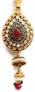 Soni's Gold Plated Red and Green Stone Waist challa for Women and Girls