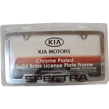 Genuine Kia Accessories UR010-AY100VQ Chrome License Plate Frame for Kia Sedona