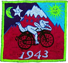 ImZauberwald Albert Hofmann LSD ~7 inch handmade embroidery Bicycleday UV patch