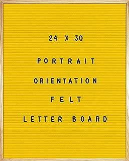 Yellow Felt Letter Board 24 X 30 Portrait Orientation with 692-Piece Set of 1
