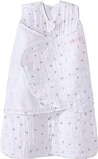 Halo 100% Cotton Muslin Sleepsack Swaddle Wearable Blanket, Pink Stars, Newborn