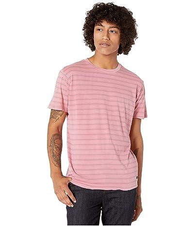 RVCA Saturation Stripe Short Sleeve (Dusty Rose) Men
