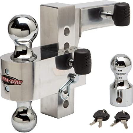 """Uriah Products Aluma-Tow 6"""" Drop Ball Mount for 2"""" Receiver (UT623410)"""