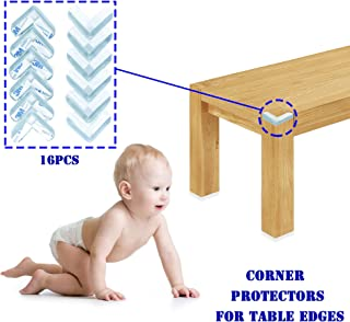 Cover Sharp Furniture Edges to Avoid Your Baby from Injuries.Baby Safety. Clear Corner Protectors. Clear Corner Guards. 3M Hard Adhesive Gives Extra Safety. 16 PCS Package .40x40x16mm