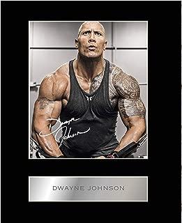 dwayne johnson signed photo