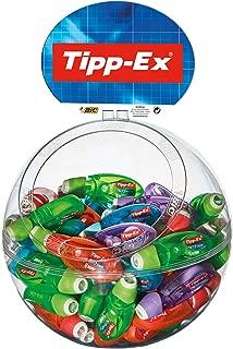 Tipp Ex Bic Tipp-Ex Microtape Twist 879432 Correction Tape Rollers Display 60 Items Plastic
