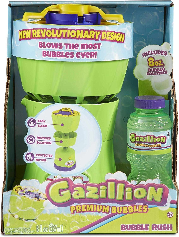 Gazillion Bubble Rush Bubble Blower Machine Bubbles for Kids, Pu