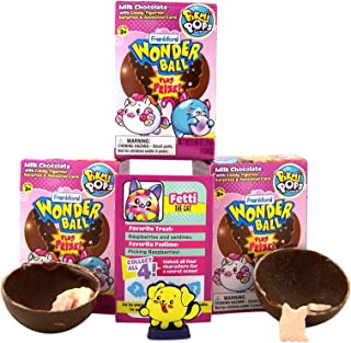Pikmi Pops Surprise Wonderball with a Surprise Collectible Figurine Included in Box, Pack of 3