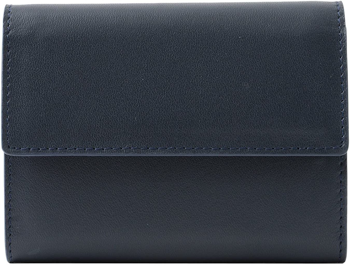 消費ホラー指紋[BlissLeather] 本革 カウレザー コンパクト 三つ折り財布 ボックス 付き 牛革 10132