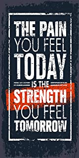 "TUMOVO ""The Pain You Feel Today is The Strength You Feel Tomorrow"" Canvas Prints Office Wall Decor Motivation Quote Motivational Entrepreneur Pop Culture Inspiration Decoration Meaning(20""X40"")"