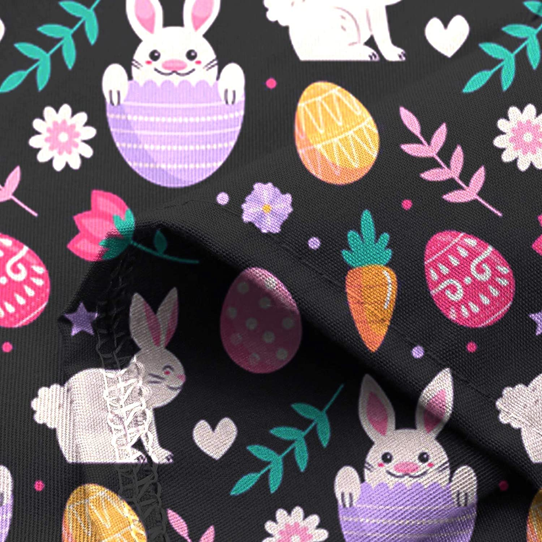 Easter Scrub_Tops for Womens Rabbit Pattern Short Sleeve V-Neck Nursing_Tops Workwear Working Uniform T Shirt