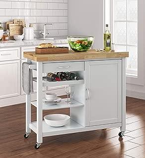 Truly Home FUBC10044A Denver Kitchen Cart, White
