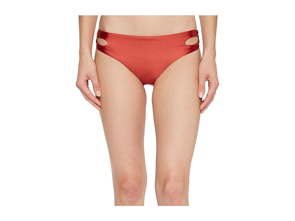 Roxy Shine Softly Love Reversible 70s Bikini Bottom (Tandoori Spice) Women