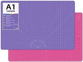 O'woda A1 (90x60cm) Tapis de découpe,5 Couches PVC Auto-cicatrisant Plaque de Découpe, avec Centimètres et Pouces, Parfait...
