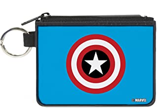 Buckle-Down Buckle-Down Zip Wallet Captain America Large Accessory, Captain America, 8