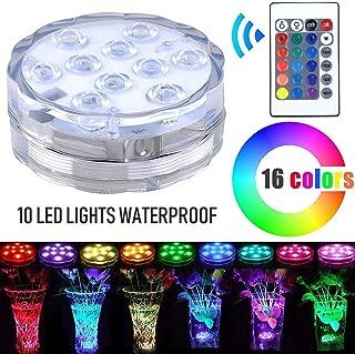 Lyyes Submersible LED Lights Battery Operated Led Lights Waterproof Colorful Pool LED Lights for Vase Base,Hot Tub,Aquarium (1pack)
