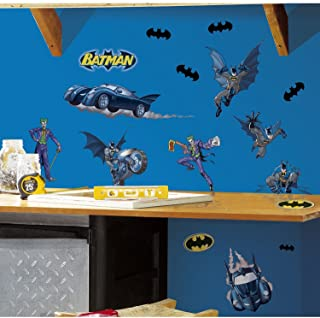 RoomMates Batman Gotham Guardian Peel and Stick Wall Decals - RMK1148SCS,Multicolor