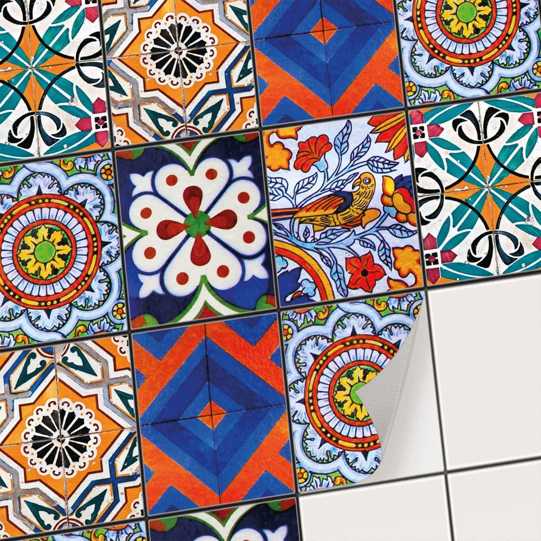 Creatisto Fliesenfolie Fliesenaufkleber Mosaikfliesen - Hochwertige Aufkleber Sticker für Fliesen I Stickerfliesen - Mosaikfliesen für Küche, Bad, WC Bordüre (20x25 cm I 24 -Teilig)