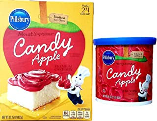 Limited Edition Candy Apple Cake Mix and Frosting Bundle of 2