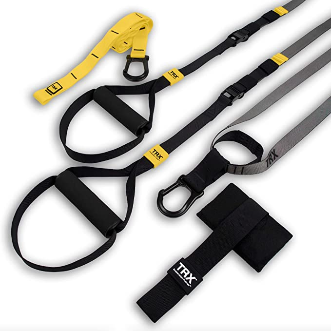 TRX GO Suspension Trainer System: Lightweight & Portable| Full Body Workouts, All Levels & All Goals| Includes Get Started Poster, 2 Workout Guides & Indoor/Outdoor Anchors
