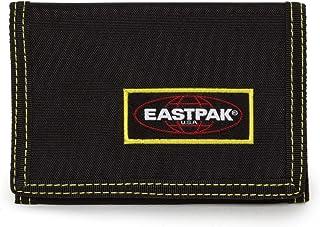 Eastpak Crew Single Portafoglio, 13 Cm, Nero (Kontrast Lime)