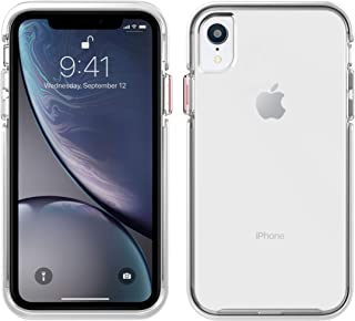 Pelican Ambassador iPhone XR Case (Clear/White with Rose Gold Button)