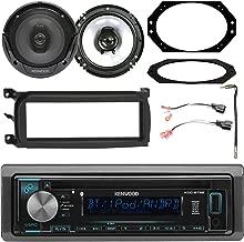 Kenwood in-Dash Bluetooth HD Radio Stereo Receiver, 2X 6.5 Speakers, Single-DIN Dash Kit, Metra 2 Pin Rectangular Speaker Connector, Antenna Adapter, 4X6 Speaker Plate (Select 2001-2006 Vehicles)