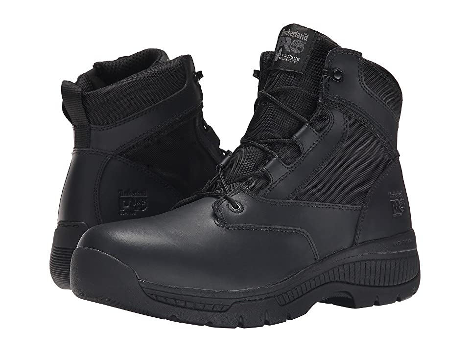 Timberland PRO 6 Valortm Duty Soft Toe Side-Zip (Black) Men