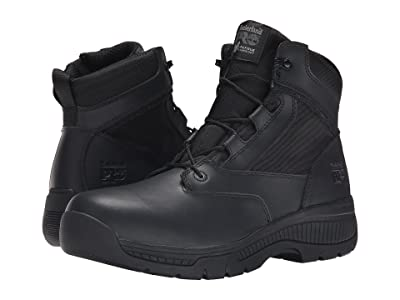 Timberland PRO 6 Valortm Duty Soft Toe Side-Zip (Black) Men