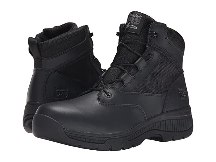 Timberland PRO  6 Valortm Duty Soft Toe Side-Zip (Black) Mens Work Lace-up Boots