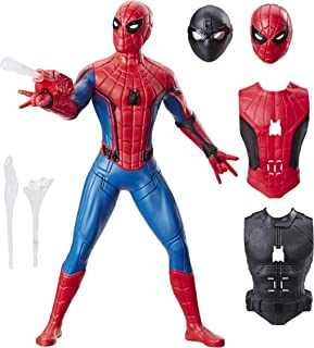 Spider-Man E3567 Far From Home Deluxe 13-Inch-Scale Web Gear Spider-Man Action Figure with Sound FX, Suit Upgrades, and Web Blaster Accessory