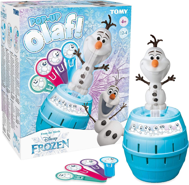 Tomy Frozen 72389- Tricky Salta Olaf, Juego de Mesa (