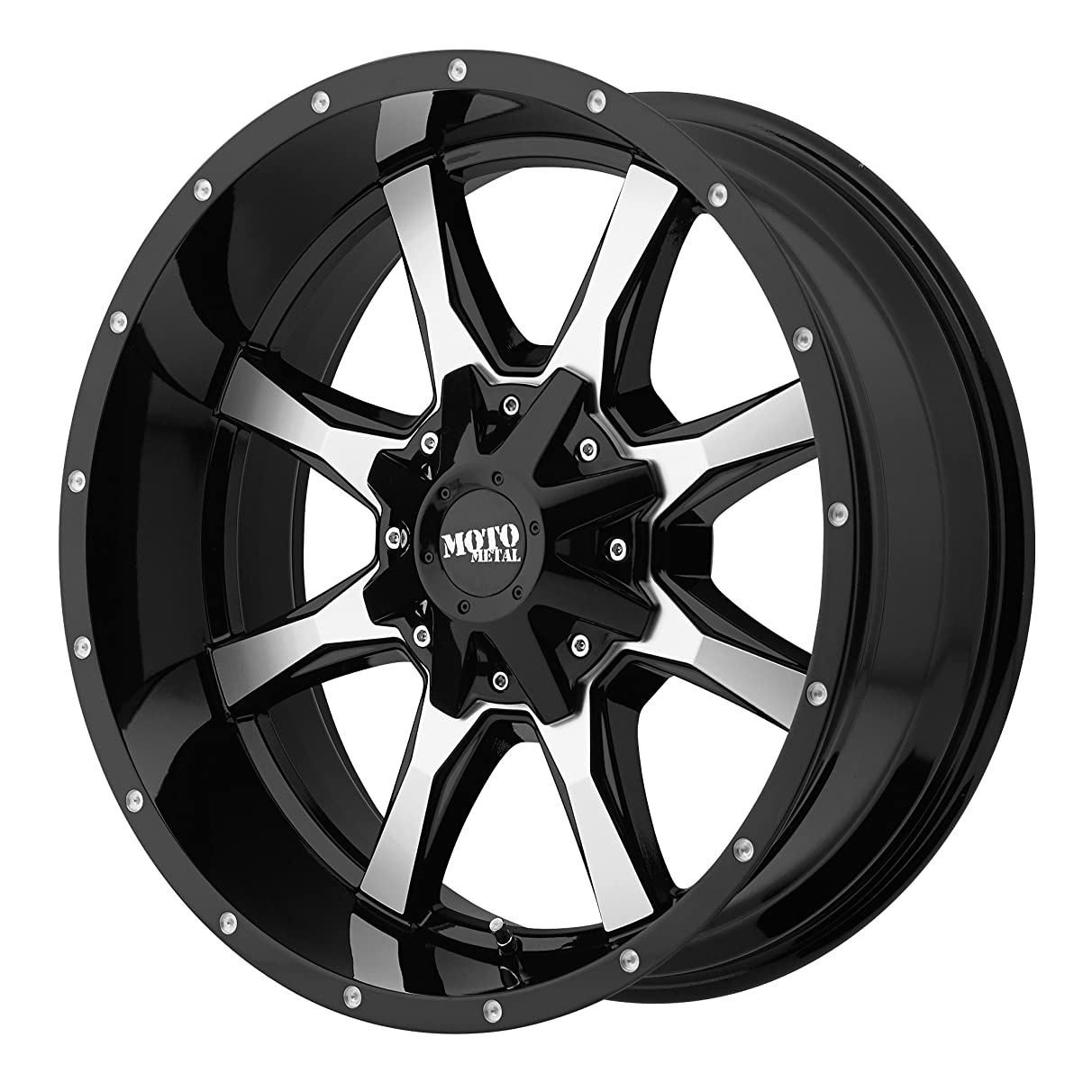 Moto Metal MO970 Gloss Black Wheel Machined With Milled Accents (17x8