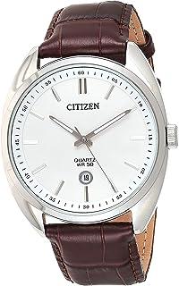 CITIZEN Mens Quartz Watch, Analog Display and Leather Strap - BI5090-09A