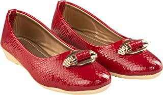 Leatherwood 1 Synthetic Leather Bellies Shoe for Girls - S-999212