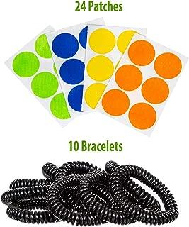 CITROBLACK Mosquito Repellent Bracelet: Pack of 10 Mosquito Repellent Bands and 24 Patches - Natural Insect and Bug Repellent Bracelets for Adults and Kids - Travel and Outdoor Accessories