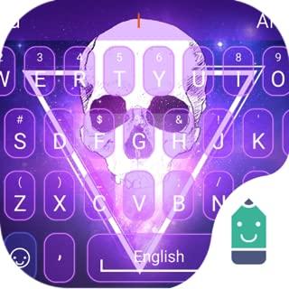 Flaming Skull Theme&Emoji Keyboard