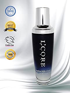 L'Core Paris Face and Neck Sapphire Milk Cleanser with Organic Extracts - 4oz/120ml
